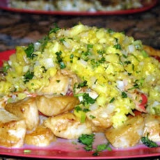 Seared Scallops with Tropical Salsa | Seafood | Pinterest