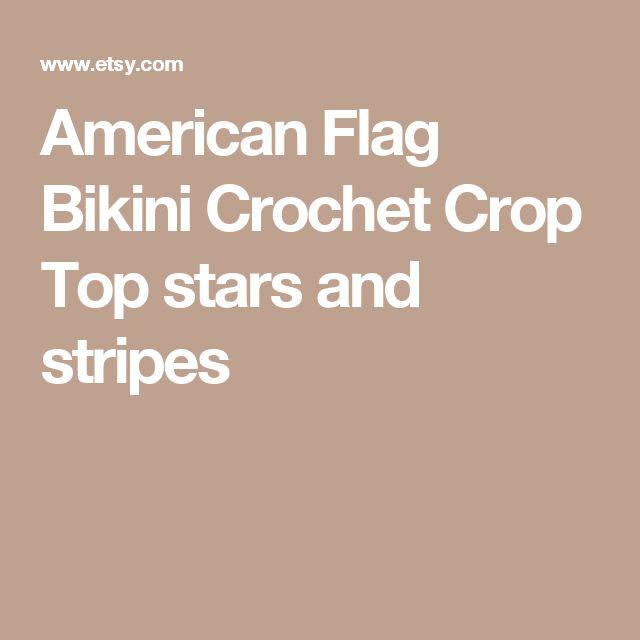 American Flag Bikini Crochet Crop Top stars and stripes