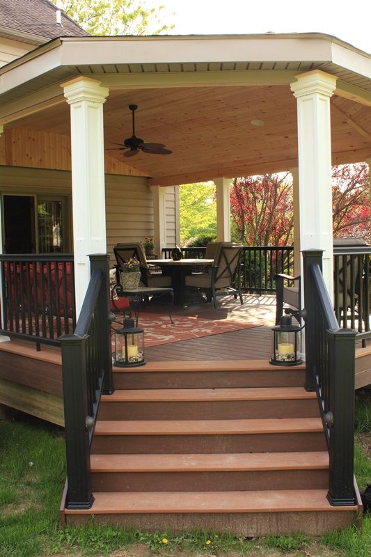 Large Gazebo With Fireplace Attached to the House | Outdoor Room | Bucks County PA Philadelphia  | Back To Nature Decks