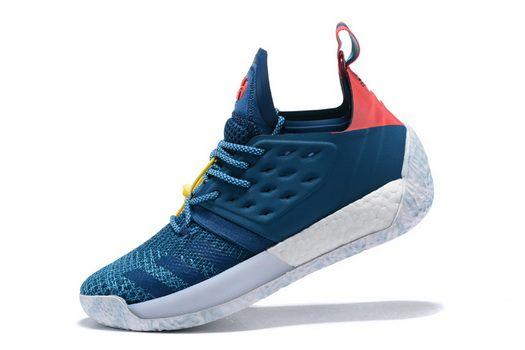 Adidas Harden Vol 2 James Step Back Blue Night Shock Red Basketball Ah2216  fashion shoes 2018 Shoe 3d3e3cddc