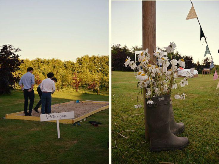 Petanque et bouquet mariage A+A