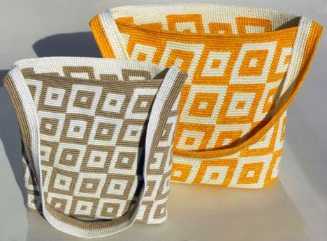 Tapestry Crochet Totes