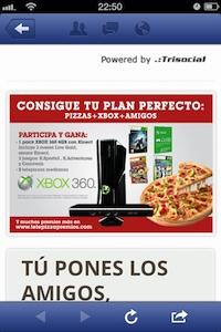 Iphone contest Telepizza