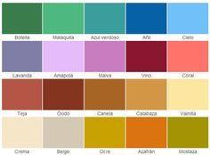 Carta de colores para fachadas de casas