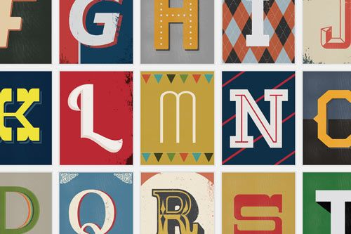 Typography nerds like myself love seeing it done well and the team at Red Headed Mess (awesome name) came up with a series of 27 prints that were inspired by vintage type.
