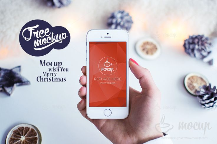Free Mockup iPhone White Christmas - Mocup | PSD Mockups, Stock Photos and Videos
