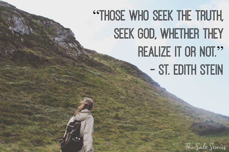 "The Salt Stories: St. Edith Stein - Making New Friends in Heaven  ""Those who seek the truth, seek God, whether they realize it or not.""- St. Edith Stein"