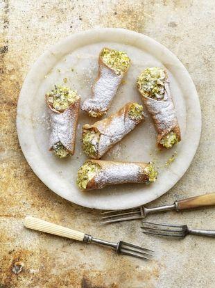 Lemon & pistachio cannoli | Jamie Oliver