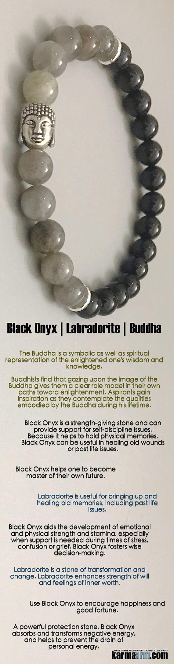 #Labradorite is a stone of #transformation and #change. #Buddha #Black #Onyx    #Beaded #Beads #Bijoux #Bracelet #Bracelets #Buddhist #Chakra #Charm #Crystals #Energy #gifts #gratitude #Handmade #Healing #Jewelry #Kundalini #LawOfAttraction #LOA #Love #Mala #Meditation #Mens #prayer #pulseiras #Reiki #Spiritual #Stacks #Stretch #Womens #Yoga #YogaBracelets #prayer