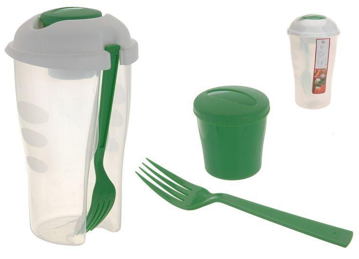 KUCHYŇKA | kelímek 0,5l svačin.+vidl. d7,5x19cm, plast | Katalog - Kuchyňské potřeby, velkoobchod Plastimex s.r.o.