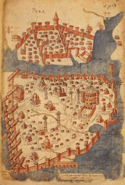 Constantinople medieval map