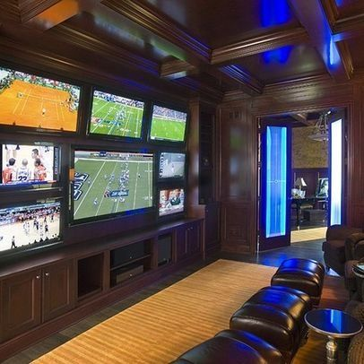 multiple tvs in basement images - Google Search