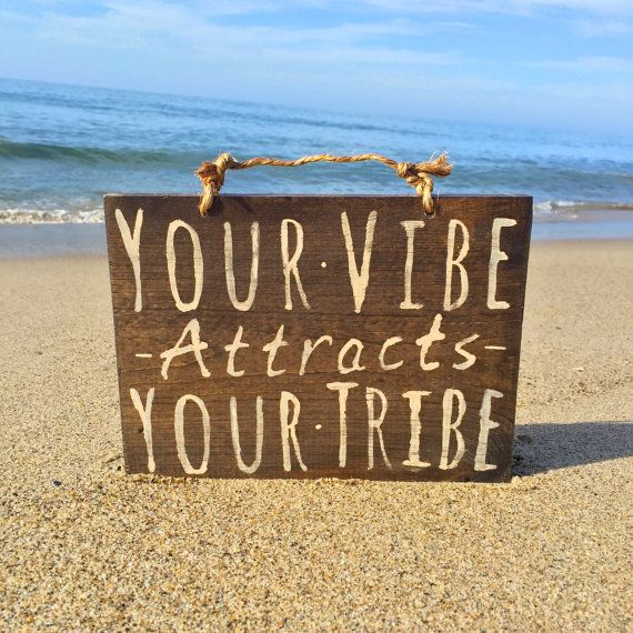 Your Vibe Attracts Your Tribe Wood Sign / Hippie by HollyWoodTwine