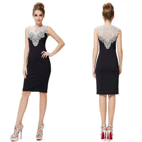 Details about UK Elegant Bodycon Short Lace Cocktail Party Gown Club Dress 06137 Ever Pretty