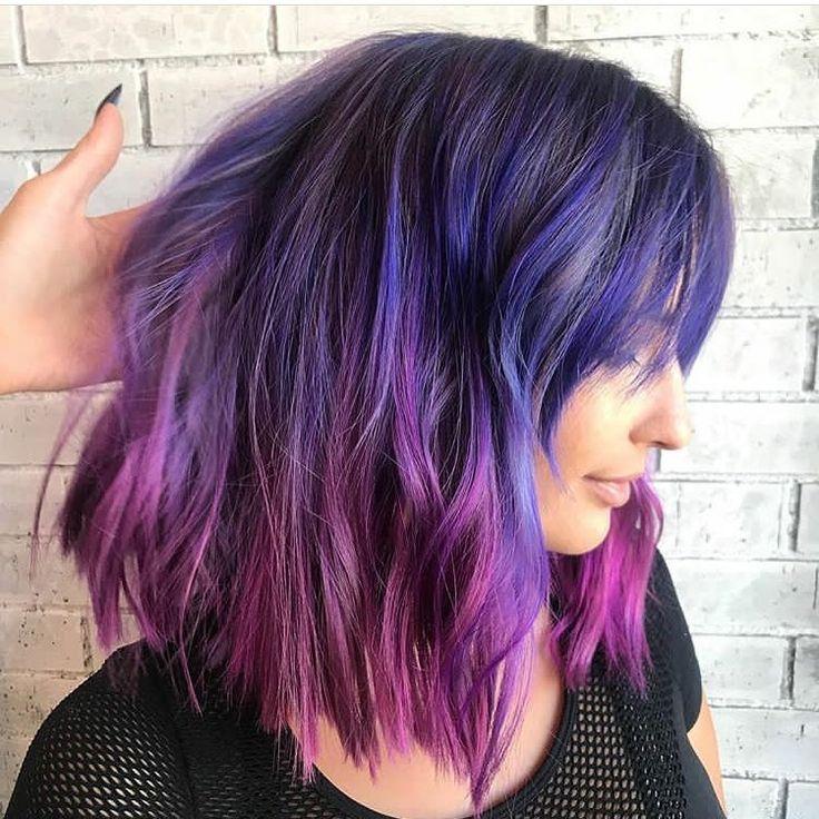 Blue and purple ombre color melt