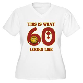 This Is What 60 Looks Like Women's Plus Size V-Neck #circusvalley