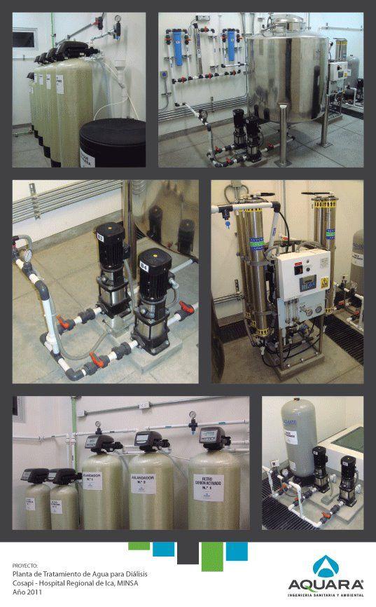 Planta de tratamiento de agua para diálisis.