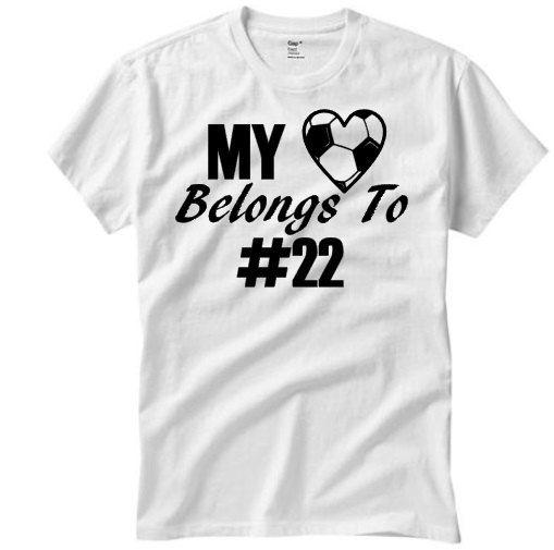 My heart belongs to shirt// custom soccer shirt// by ValleyPress