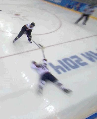 McDonagh playing Frog defense against Slovakia.