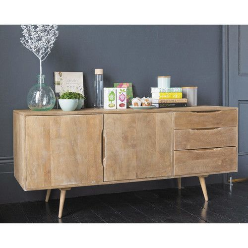 buffet enfilade vintage en manguier l 167 cm geneve. Black Bedroom Furniture Sets. Home Design Ideas