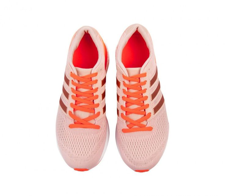 Adidas - adizero Boston 6 Dam löparskor (orange/rosa)