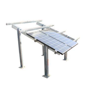 ESTRUTURA PARA PAINÉIS FOTOVOLTAICOS-Confeccionado em aço carbono galvanizado ou em alumínio, pode ser aplicado em qualquer projeto de geração fotovoltaica, como usinas solares, telhados, estacionamentos e postes híbridos.