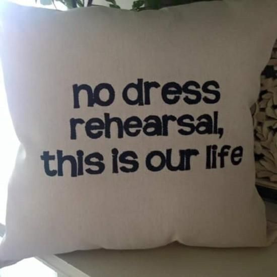 No Dress Rehearsal pillow  -- great Christmas gift for the Tragically Hip fan on your Christmas list