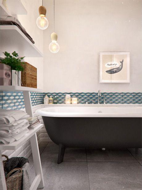 salle de bain floor sol bathroom carreau de ciment tiles carrelage decoration lifestyle ceramic