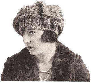 Circaset: 1918 Crocheted Tam O'Shanter (2)