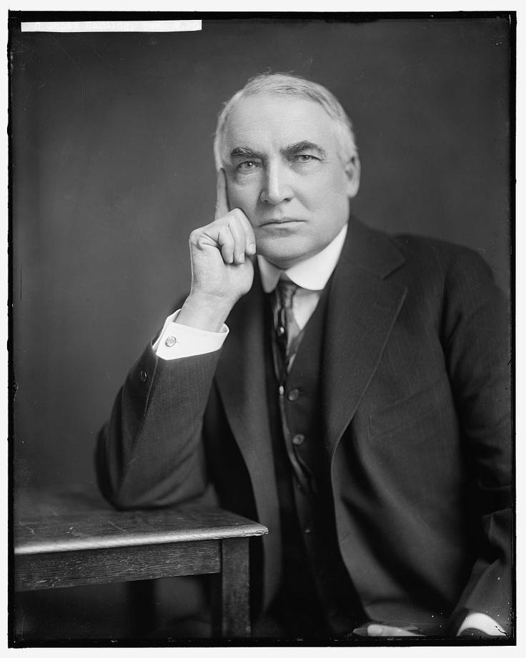 President Warren Harding.