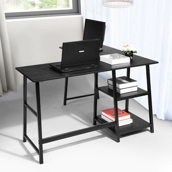 Overstock Com Online Shopping Bedding Furniture Electronics Jewelry Clothing More In 2021 L Shaped Executive Desk Computer Desk With Shelves Corner Computer Desk