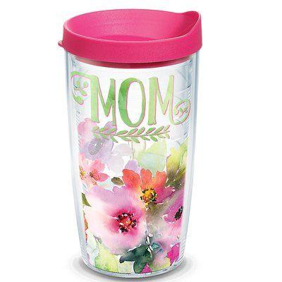 Celebrate Life Mom Watercolor Floral Plastic Travel Tumbler #affiliate, #tumber, #travelmug, #motherdaygifts