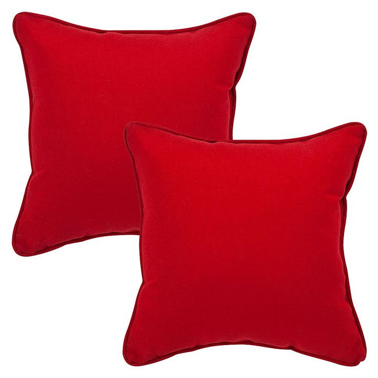 Pillow Perfect Set of 2 Pompeii Corded Throw Pillows - Red