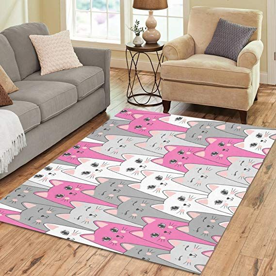 Design Area Rug Cute Kittens Carpet For Living Room Dining Room