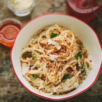 Midnight Pasta with Pecorino & Olio Santo | FamilyStyle Food