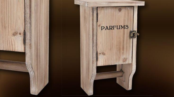 Petite armoire en bois avec dérouleur papier toilette