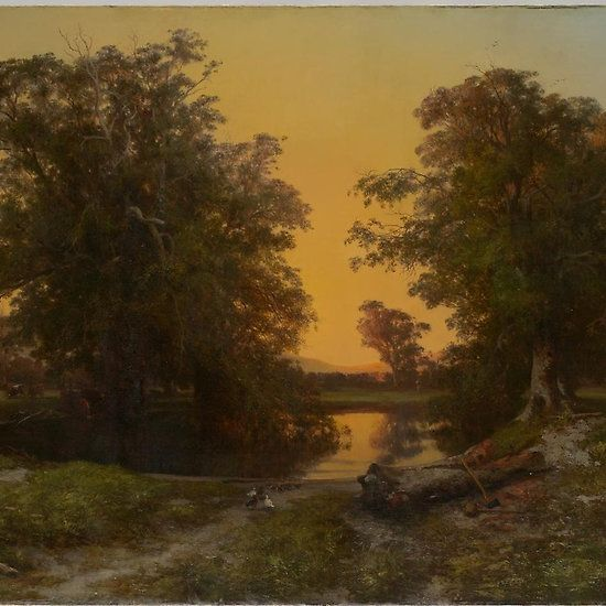 Waterpool near Coleraine (sunset) . Louis BUVELOT
