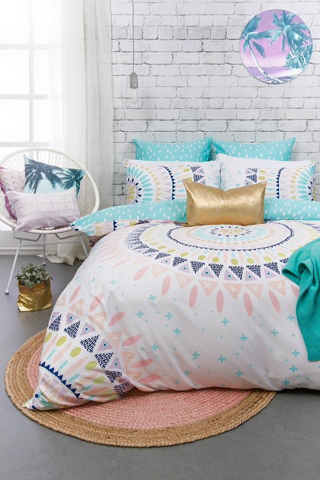 We have been swooning over this new quilt set!! #newstock #bedding #quiltcover #home #homewares #dcbdesigns
