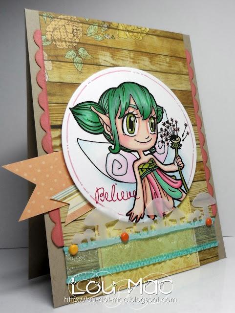 Cartolinas from Lou Mac: Do you believe in Fairies? using Dandelion Fiary