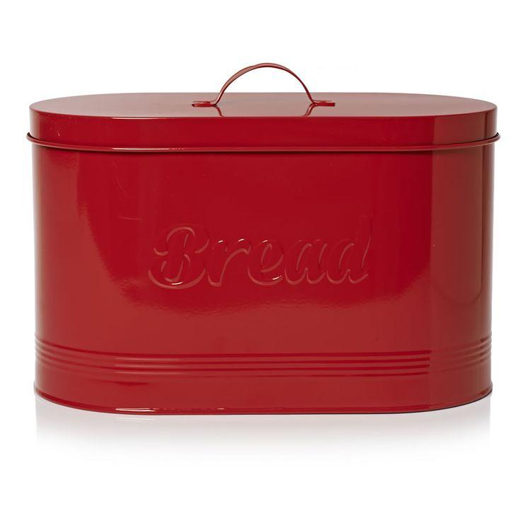 wilko retro bread bin red at kitchen ideas. Black Bedroom Furniture Sets. Home Design Ideas