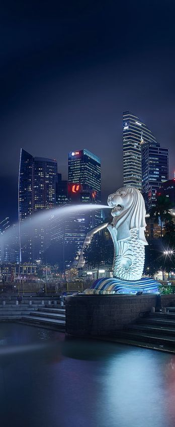 The national personification of Singapore - The Merlion.