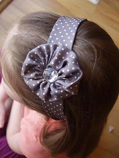 Tie Flower Headband - made from men's tie - upcycle diy