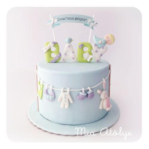 Sweet Baby Shower Cake Love The Hanging Clothes Mia Atolye