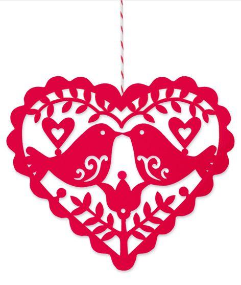 scandinavian christmas heart