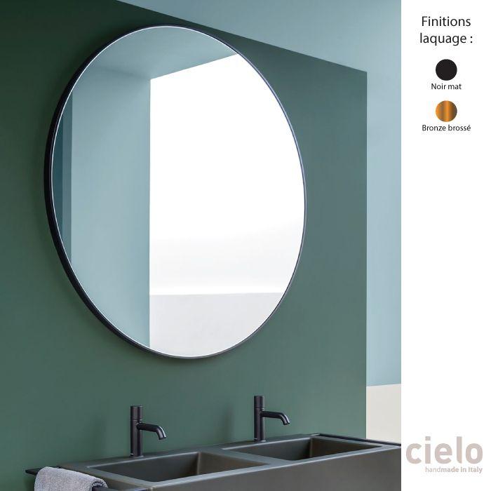 Miroir Mural Design Rond 120 Cm Cadre Metal I Catini Ceramica Cielo Miroir Mural Design Miroir Mural Miroir