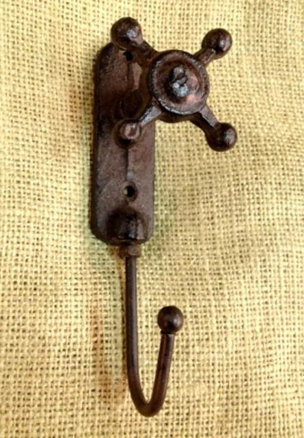 Old faucet hooks.