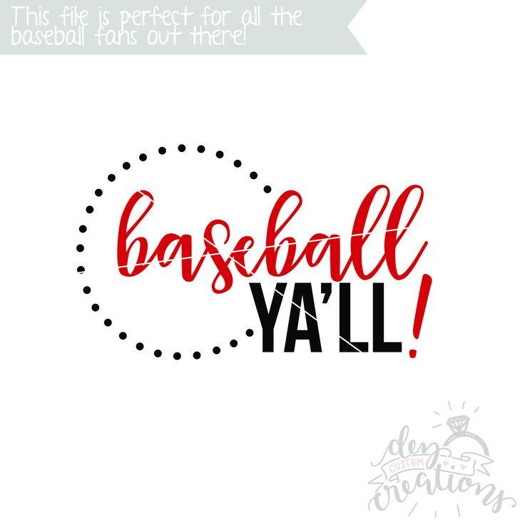 Baseball Ya'll! SVG | Cut File | DXF file | Baseball SVG | svg files for Cricut | svg files for Silhouette | Baseball shirt design by DezCustomCreations on Etsy