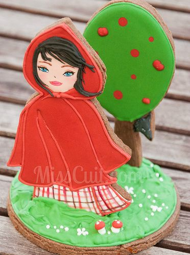 3-D Little Red Riding Hood Cookie  