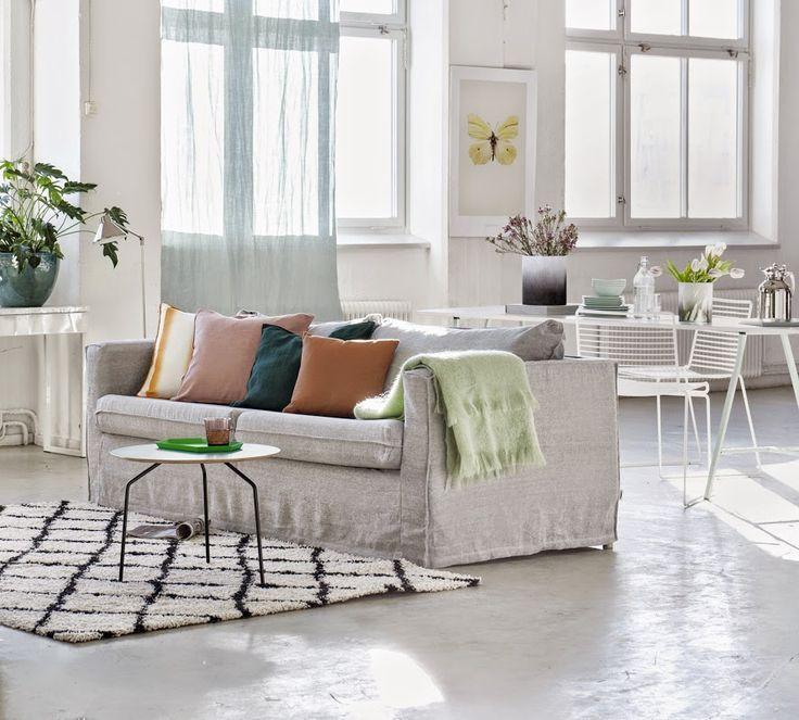 karlstad 3 seater sofa cover loose fit urban vardagsrum och inspiration. Black Bedroom Furniture Sets. Home Design Ideas