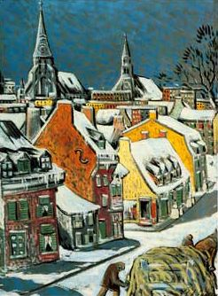 Marc-Aurèle Fortin - Marc- Aurele Fortin is known and admired as the great champion of the Quebec landscape painters.
